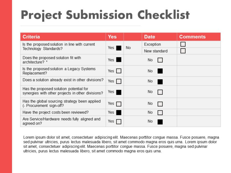 Project Submission Checklist