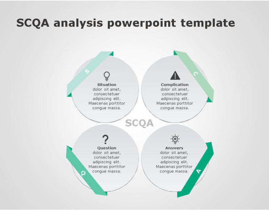 SCQA PowerPoint Template for business use ,30j