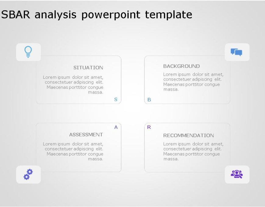 SBAR PowerPoint Template for business use ,30l