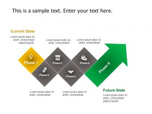 Current State vs Future State Arrow PowerPoint
