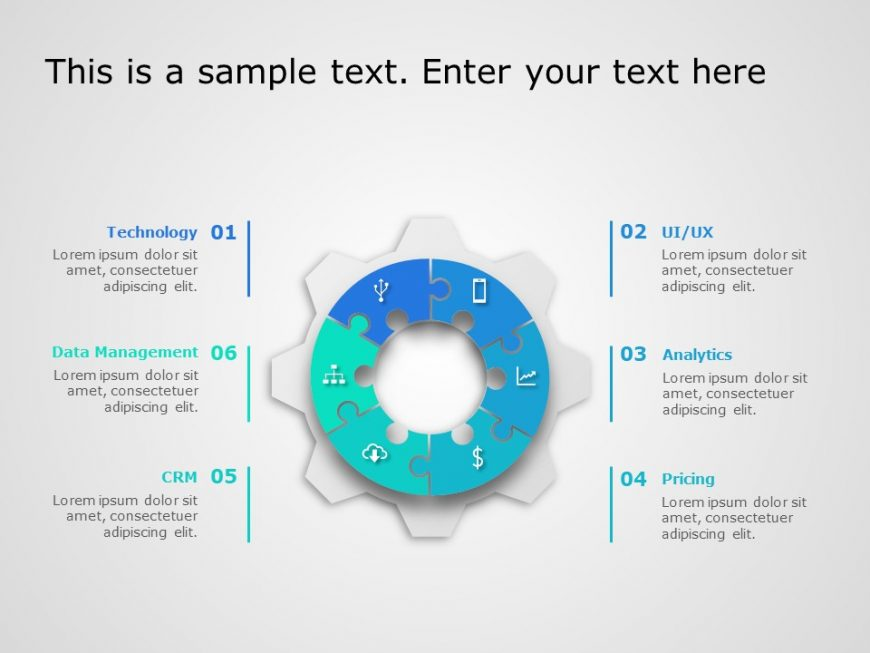 Circle Gear Puzzle Template