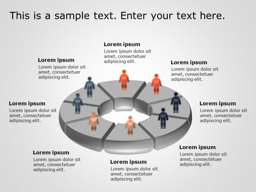 Circular 3D Org Chart PowerPoint Template 10