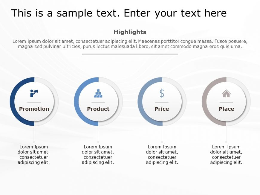 4Ps Marketing PowerPoint Template 4