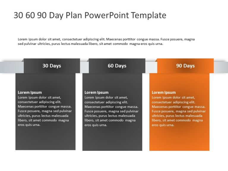 Free 30 60 90 Day Plan Powerpoint Template 13