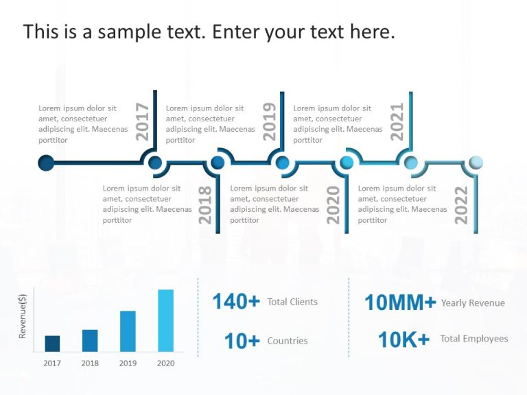 Company Timeline PowerPoint Template