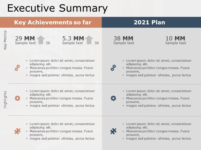 Executive Summary PowerPoint Template 22