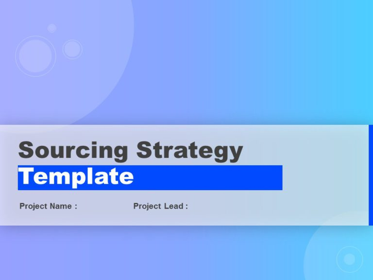 Sourcing Strategy Deck